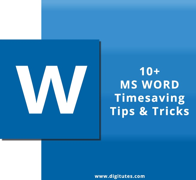 MS Word Timesaving tips